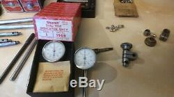 2 Starrett 657 Magnetic Bases&Rod Universal Indicator (2)196b dial calipers plus