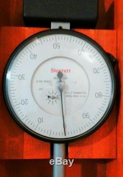 656-12041J L. S. STARRETT dial indicator extra long range 0-12 Mitutoyo Brown