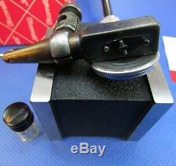 Beautiful STARRETT 657BZ Magnetic Base Holder & 711 Last Word in Case Machinist