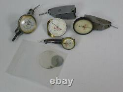 Dial Test Indicator Parts Lot Mitutoyo, Starrett, Contact Points & Accessories