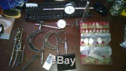 Dial indicators, micrometers, radius gauge set, misc. Starrett, mitotoyo