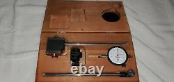 Excellent Starrett No 657 Magnetic Base No 25-131 Dial Indicator Swivel Set Case