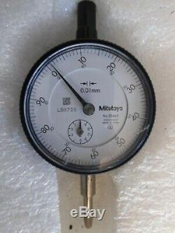Four Dial Indicators & Noga Magnetic Stand 2 Mitutoyo, Starrett, Te Clock