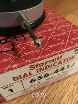 Genuine Starrett 656-441J Dial Indicator 0-1.000 and. 001 graduation