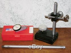 HERMANN SCHMIDT SURFACE GAGE with STARRETT. 0001 INCH DIAL INDICATOR