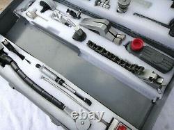 L. S Starrett 35pc Machinist LOT, Magnetic Bases, Posts, Snugs, Indicators + Case