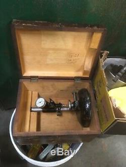 L. S. Starrett 458 Bench Gage Dial Indicator Comparator In Case Machinist Tool