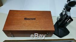 L. S. Starrett Co. 1150-2 Snap Gage with base, wood box and Dial No. 81-111-624