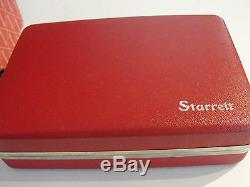 L S Starrett No. 1015A-431 AZ Portable hand Gage Dial Indicator. 0005 1/2range