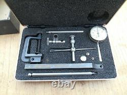 L. S. Starrett No. 196A Machinist Dial Test Indicator with Case & Attachments