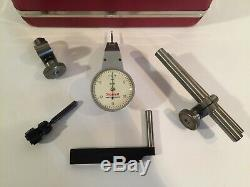 L. S. Starrett No 811-5CZ Swivel Head Dial Test Indicator In Case WithAttachments