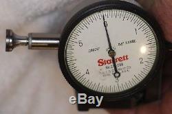 LS Starrett 657 Magnet Base & LS Starrett 25-209 Jeweled. 00005 Dial Indicator
