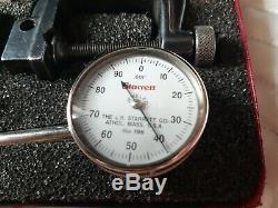 LS Starrett No. 196 Dial Test Indicator Set LS 196A Plunger Clamp