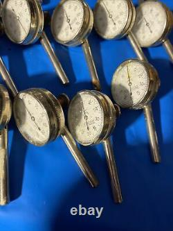Lot Of 16 Starrett Dial Test Indicators 196B Back Plunger