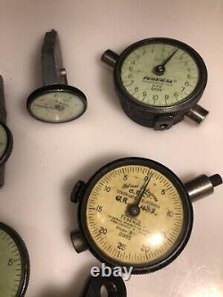 Lot Of Sixteen (16) Dial Indicators (Starrett, Federal, Etc.)