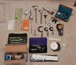 Lot STARRETT MITUTOYO MICROMETER Dial Indicators Machinist Tools BROWN & SHARPE