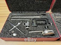 Lot of 2 Starrett No. 196 Dial Test Indicator Tool in Red Case #I-3363