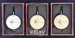 Lot of 3 Starrett Dial Indicator (656-134) (656-128) & Boxes Nice Used Condition