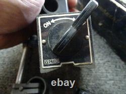 Lot of 3 Starrett Universal Dial Test Indicator Set & Vector Magnetic Base