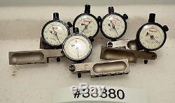 Lot of Five Starrett 81-111 Dial Indicators (Inv. 33880)