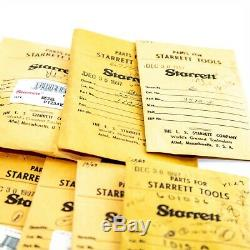 Lot of Many New Starrett Dial Indicator Spare Parts