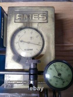 Lot of dial Indicators Federal Mitutoyo Ames Starrett Depth Guages Misc