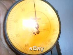 MACHINIST TOOL LATHE MILL Machinist Large Starrett Dial Indicator Gage 656 441