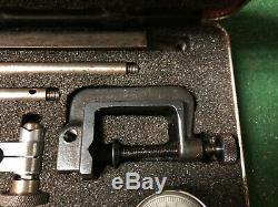MACHINIST TOOL LATHE MILL Starrett Dial Indicator Gage Gauge Set in Case OkCb