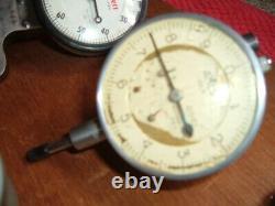 MIXED Lot (6) Dial Test Indicator 2- Starrett 1-FEDERAL 1-AMES. 0001.0005.001