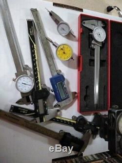 Mitutoyo Starrett Trav-O-Dial tool lot Calipers Indicators Micrometer PARTS LOT