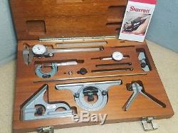 Mitutoyo Starrett precision tool kit 1 micrometer, indicator, dial caliper