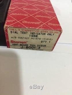 NEW Kent Moore Starrett Dial Indicator 196B J-8001-3 Special Diagnostic Tool Spx