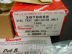 NEW Kent Moore Starrett Dial Indicator 196B Set w Magnetic Stand