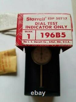 NEW Starrett 196B5 Universal Back Plunger Dial Indicator, 0.200 Range. 001