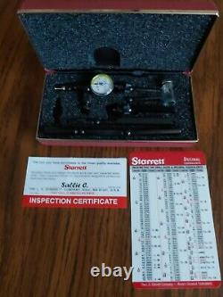 NEW Starrett 711GCSZ. 001 Last Word Dial Test Indicator With7 Accessories