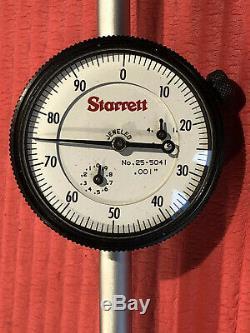 NEW Starrett Dial Indicator 5 in Range With 2.25 DIA FACE Model 25-5041J P417