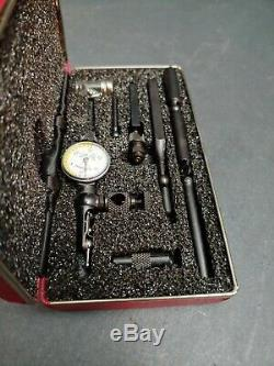 NICE & USA Made! Starrett No. 711 Last Word Dial Indicator, Attachments & Case