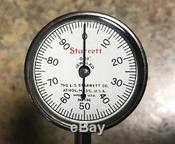 NOS Vintage Starrett Universal Dial Test Indicator Machinist Specialty Tool 196A