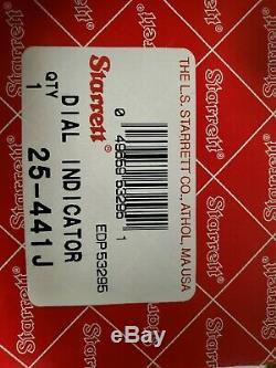 New In Box Starrett No 25-441J Dial Indicator 1 Range. 001 Graduation USA