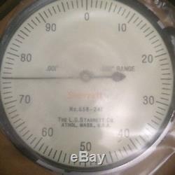 New Old Stock 656-241 Starrett Dial Indicator. 001''. 250'' Range