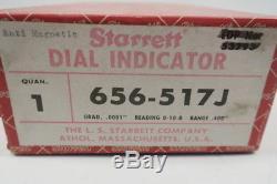 New Starrett 656-517J Anti-magnetic 0-10-0 Dial Indicator 0.4in 0.0001in