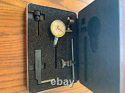 New Starrett 709ACZ Dial Test Indicator With Attachments Never Used