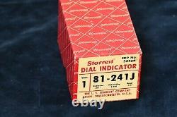 New Starrett Dial Indicator 81-241J, range 0-0.25, EDP 53428