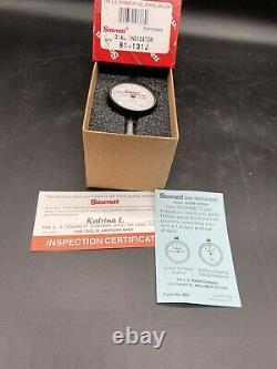 New Starrett Dial Indicator Lug Back 0-0.125 Range / 0.0005 Graduation