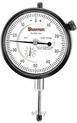 New Starrett Dial Indicator Lug Back 0-1 Range / 0.001 Graduation