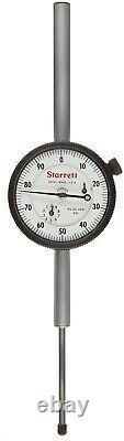 New Starrett Dial Indicator Lug Back 0-2 Range / 0.001 Graduation