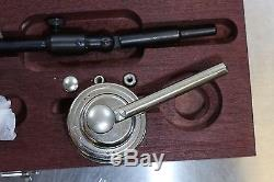 New Starrett Magnetic Base Post Holder Set + 196MB1 Back Plunger Dial Indicator