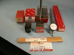New Starrett No. 657E Magnetic Base Attach & Used 81-141J Indicator Machinist