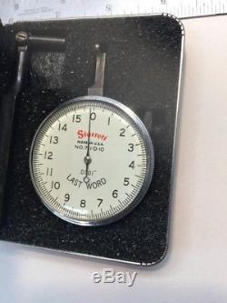 RARE NOS Starrett Last Word Dial Indicator 711-D-10.0001 T142