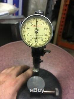 Rare L. S. Starrett 458 Dial Bench Gage Dial Indicator Comparator Machinist Tool